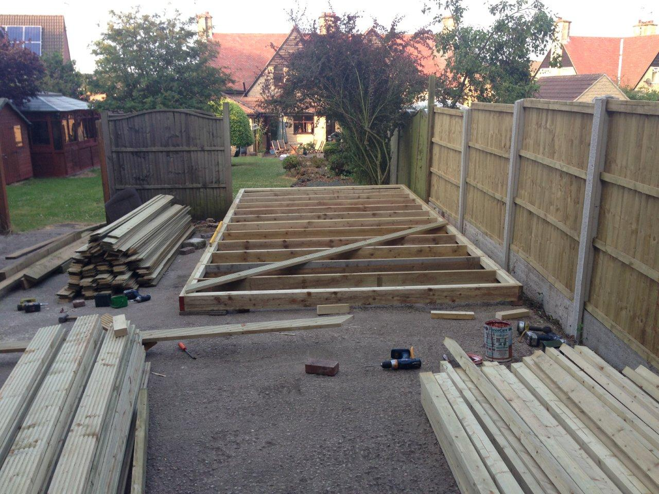 Shed build 2013 astra mk2 owners club for Decking framework timber